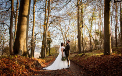 Katie & Ged, an Autumnal Wedding at Luxters Barn.